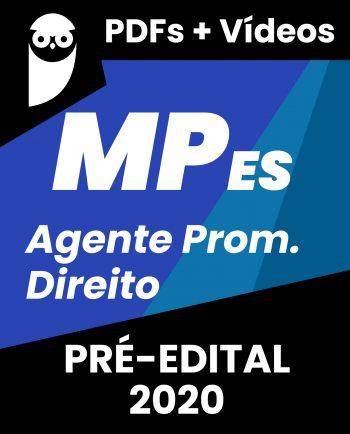 Concurso MP ES Agente de Promotoria - Direito 2020